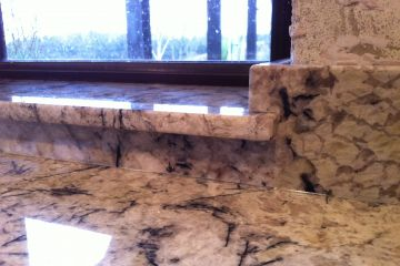 Arctic Cream Granite Upstand and Sill