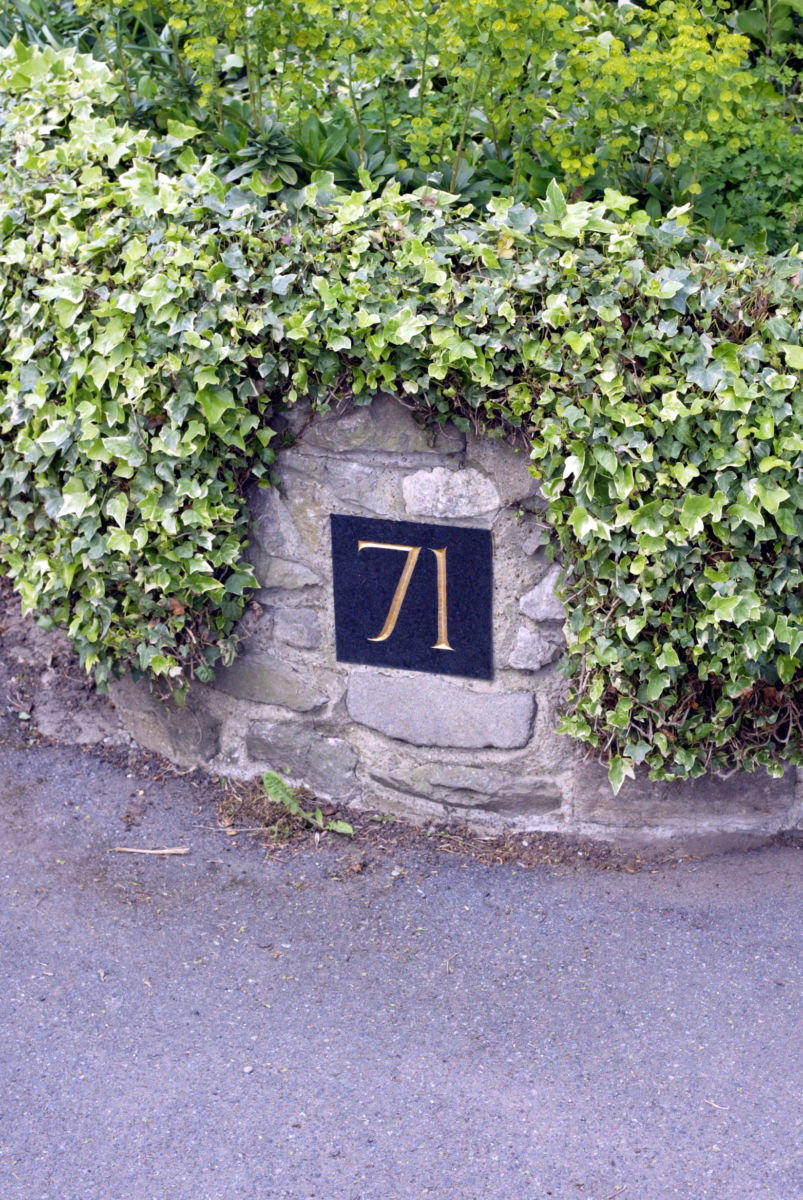 Black Granite House Number