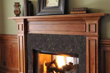 Brown Granite Surround and Hearth