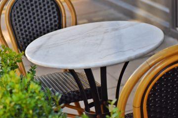 Carrara Marble Circular Top