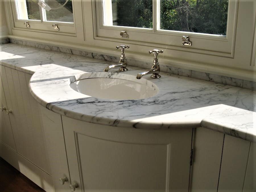 Carrara Marble Vanity Unit