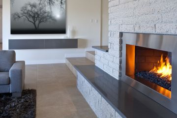 Grey Quartz Raised Hearth