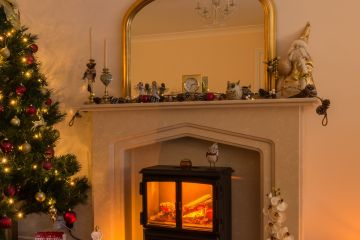 Liimestone Hearth and Mantel