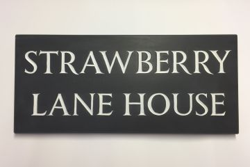 Black Slate With White Lettering