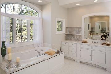 Carrara Marble Bath Surround, Vanity Tops and Shelving