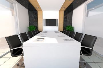 White Quartz Conference Table