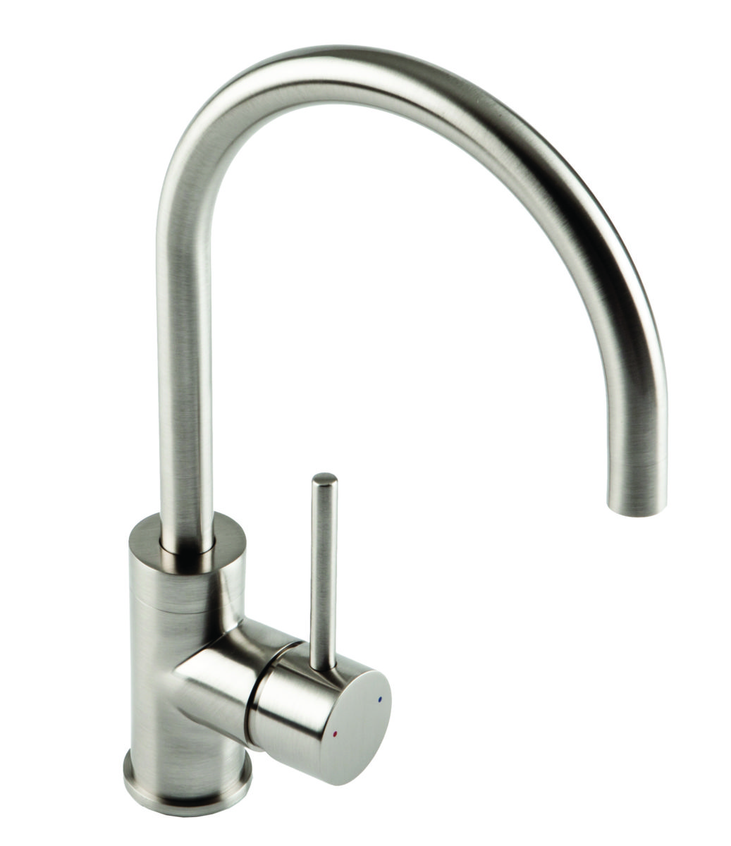 COURBE Brushed Steel Tap
